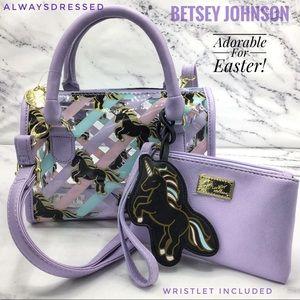 Betsey Johnson Unicorn Satchel w/Wristlet